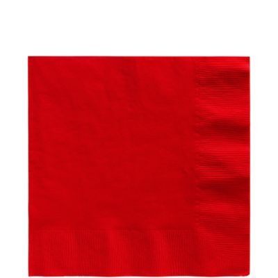 Red Lunch Napkins 50ct
