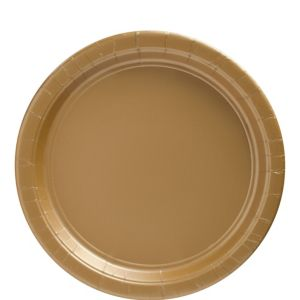 Gold Paper Lunch Plates 20ct