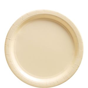 Vanilla Cream Paper Lunch Plates 20ct