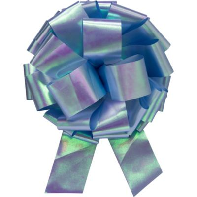 Light Blue Iridescent Bow