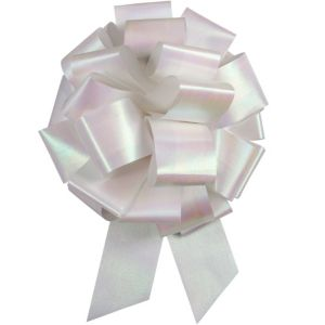 White Iridescent Bow