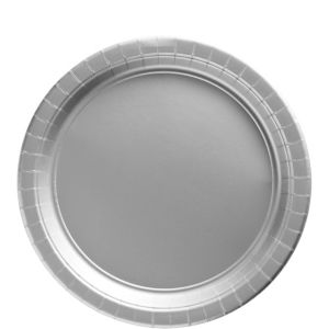 Silver Paper Lunch Plates 20ct