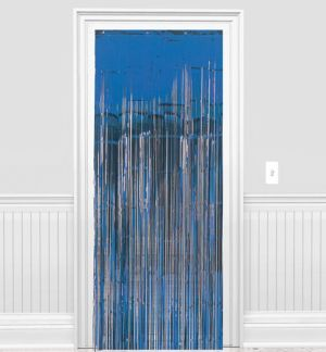 Royal Blue Fringe Doorway Curtain 3ft X 8ft Party City