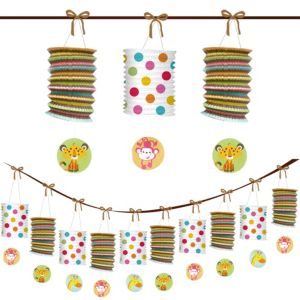 Fisher-Price Jungle Baby Shower Paper Lantern Garland