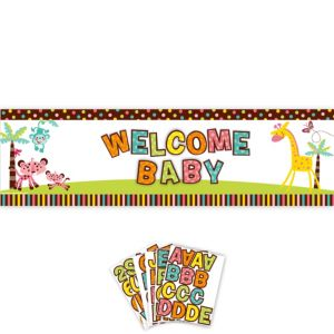 Giant Fisher-Price Jungle Baby Shower Personalized Banner Kit