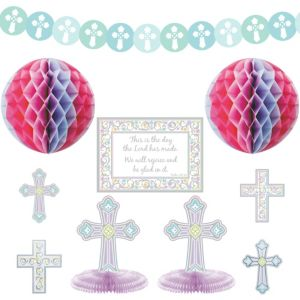 Blessed Day Religious Room Decorating Kit 10pc