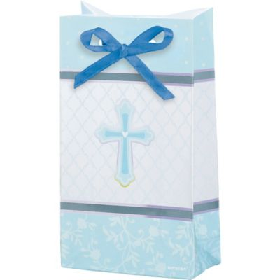 Blue Sweet Religious Favor Bag 12ct