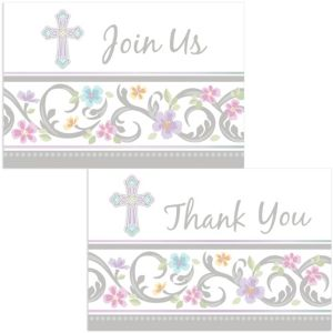 Blessed Day Religious Invitations & Thank You Notes for 8
