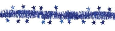 Royal Blue Star Tinsel Garland