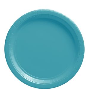 Caribbean Blue Paper Lunch Plates 50ct