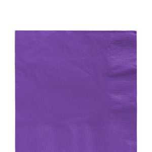 Purple Lunch Napkins 125ct