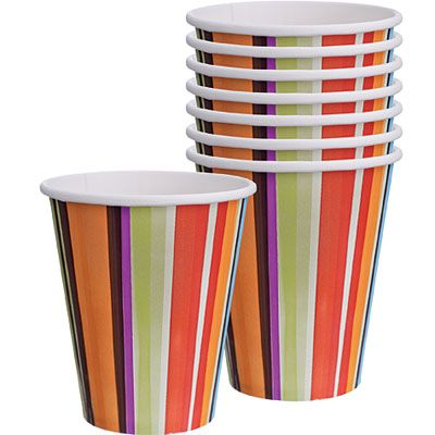 Stripe Style Cups 8ct