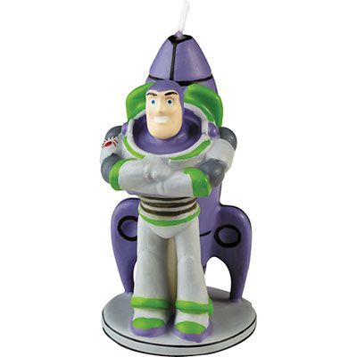 Buzz Lightyear Birthday Candle 3in