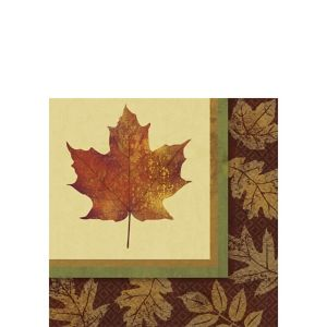 Fall Elegance Beverage Napkins 16ct