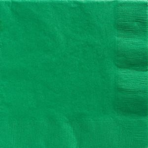Big Party Pack Festive Green Dinner Napkins 50ct