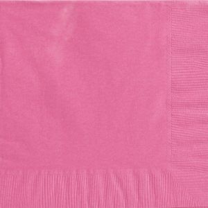 Big Party Pack Bright Pink Dinner Napkins 50ct