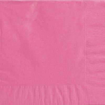 Bright Pink Dinner Napkins 50ct