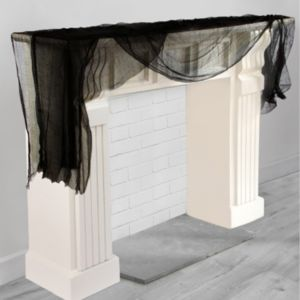 Black Cheesecloth Drape
