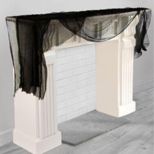 Black Cheesecloth Drape