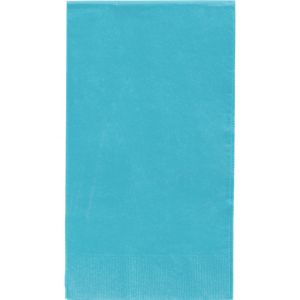 Big Party Pack Caribbean Blue Guest Towels 40ct