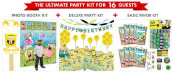 SpongeBob Ultimate Party Kit for 16 Guests