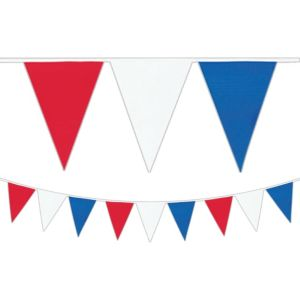Red, White & Blue Pennant Banner 30ft