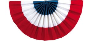 Large Velvet Patriotic Red, White & Blue Bunting