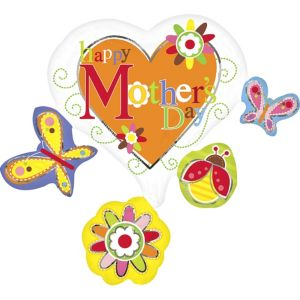 See Thru Spring Cluster Mother's Day Balloon 29in