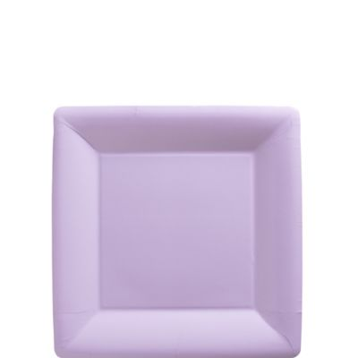 Lavender Paper Square Dessert Plates 20ct