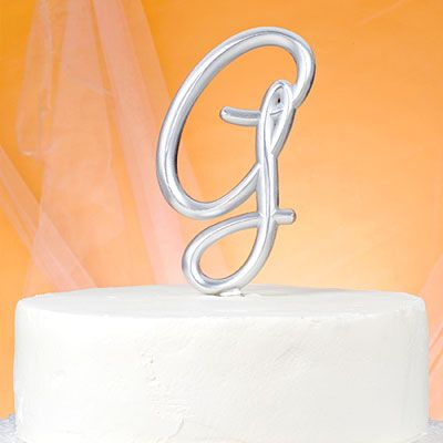 Monogram G Wedding Cake Topper