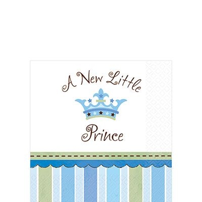 Little Prince Baby Shower Beverage Napkins 16ct