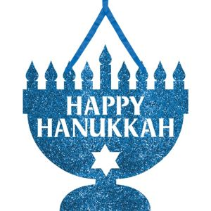 Glitter Hanging Hanukkah Sign
