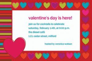 Custom Hip Hearts Valentine's Day Invitations