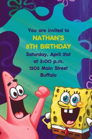 Custom SpongeBob Classic Invitations
