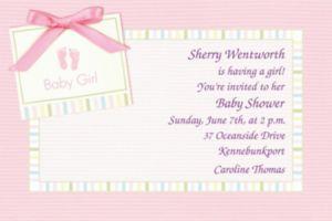 Custom Baby Soft Pink Baby Shower Invitations