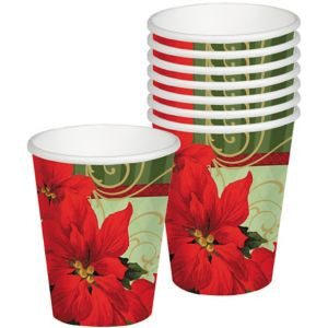 Vintage Poinsettia Cups 18ct
