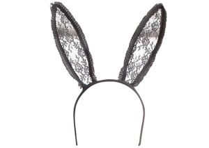 Black Lace Bunny Ears