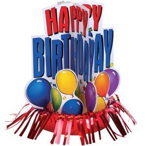 Happy Birthday Fringe Centerpiece - Balloon Fun