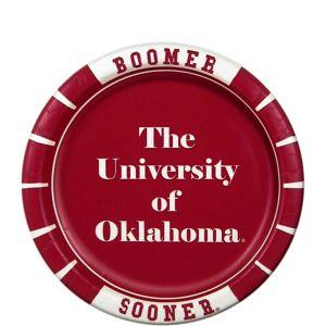 Oklahoma Sooners Dessert Plates 8ct