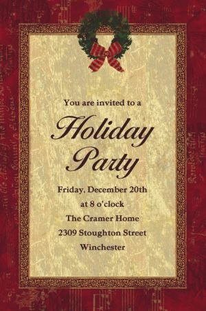 Custom Rustic Christmas Invitations