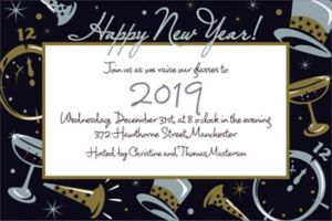 Custom Black Tie Affair Invitations