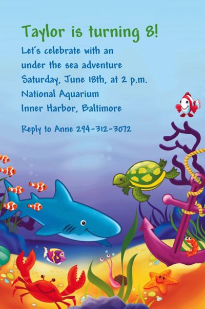 Custom Deep Sea Fun Invitations