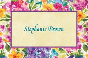 Custom Floral Impressions Thank You Notes
