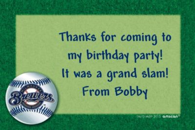 Custom Milwaukee Brewers Thank You Notes