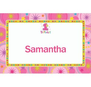 Custom One-Derful Girl 1st Birthday Thank You Notes