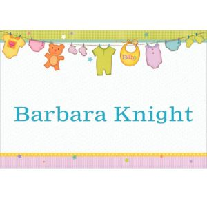 Custom Cuddly Clothesline Baby Shower Thank You Notes