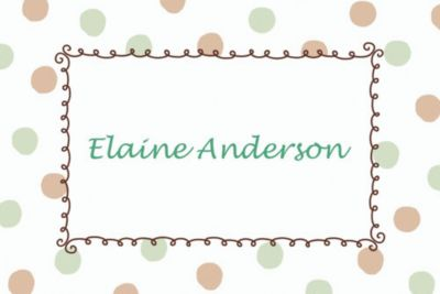 Green Dots Border Custom Baby Shower Thank You Note