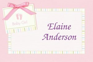 Custom Baby Soft Pink Baby Shower Thank You Notes