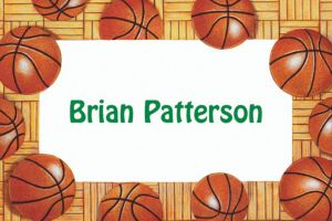 Custom Basketball Border Thank You Notes