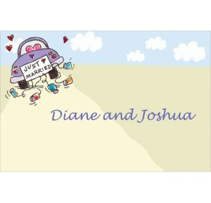 Custom Just Married Wedding Thank You Notes